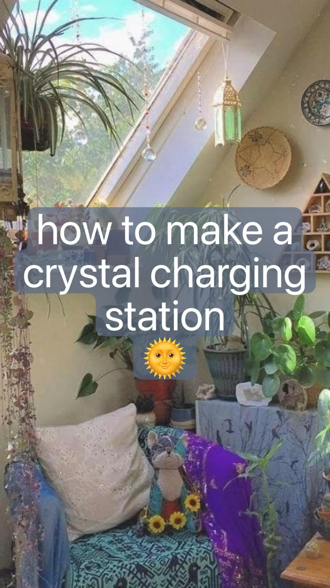 how to make a crystal charging station 🌞