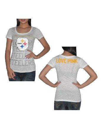 Amazon.com  Pink Victoria s Secret Womens NFL Pittsburgh Steelers T Shirt    Tee - c87abe231
