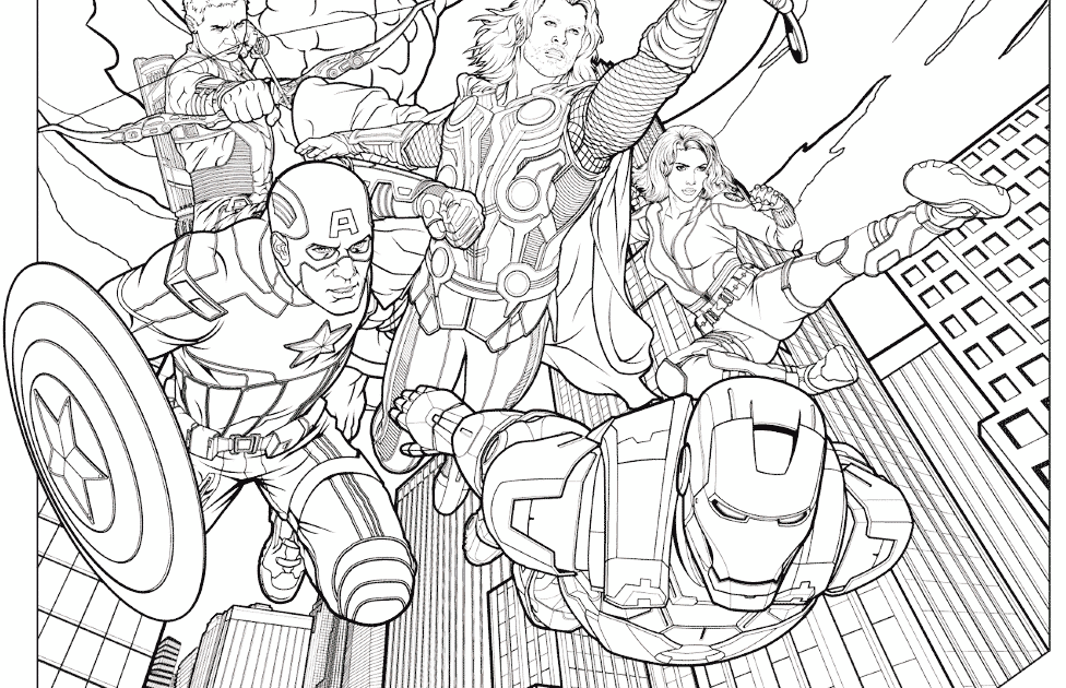 41+ Avengers easy superhero coloring pages trends