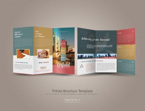 30 Contoh Desain Brosur Lipat Tiga 6 Trifold Brochure Template