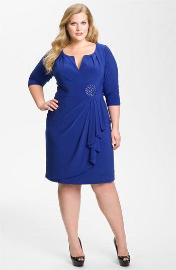 3 4 sleeve cocktail dress plus size online