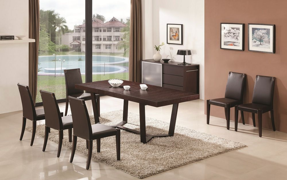 Class 8 Pc Dining Set With Colibri Dining Chairsj&m  Dining Gorgeous Oak Dining Room Table And 6 Chairs Decorating Inspiration