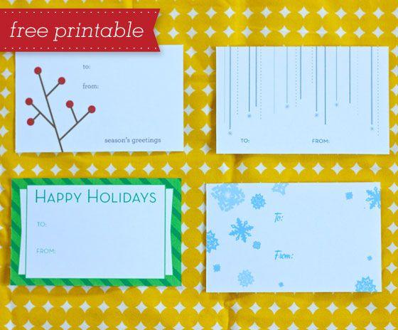 Free Printable Gift Tags  Free Printable Gift Tags Free