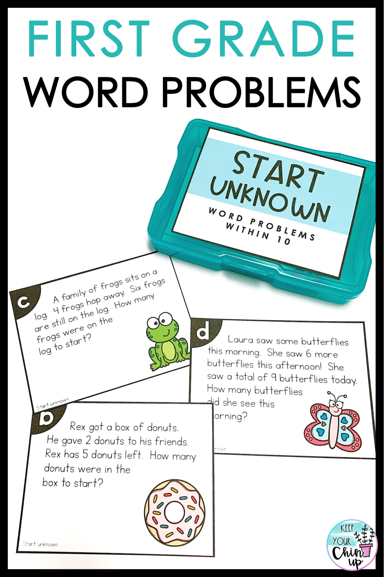 First Grade Word Problems Within 10