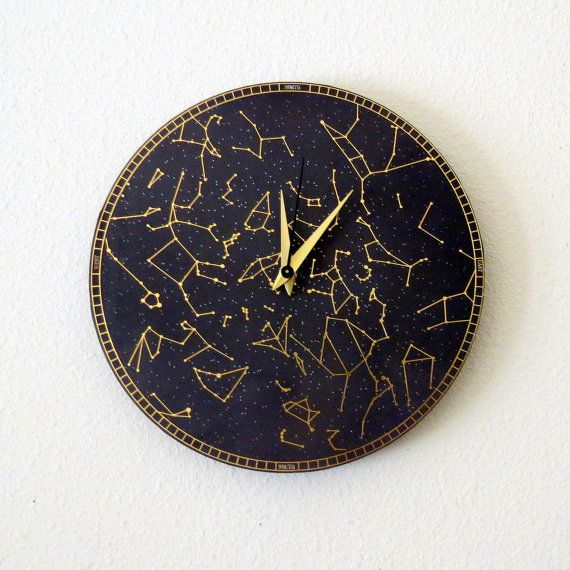 Constellation Clock Quiet Bedroom Clock Astrology Wall Art Unique Wall Decor Bedroom Clocks Unique Wall Clocks