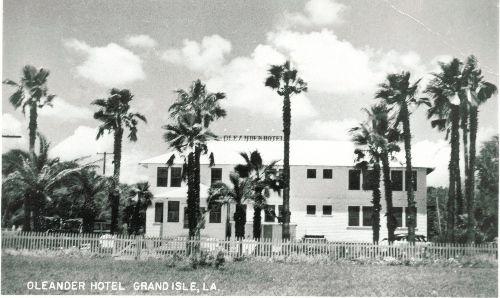 Oleander Hotel Grand Isle Louisiana Vintage Postcard