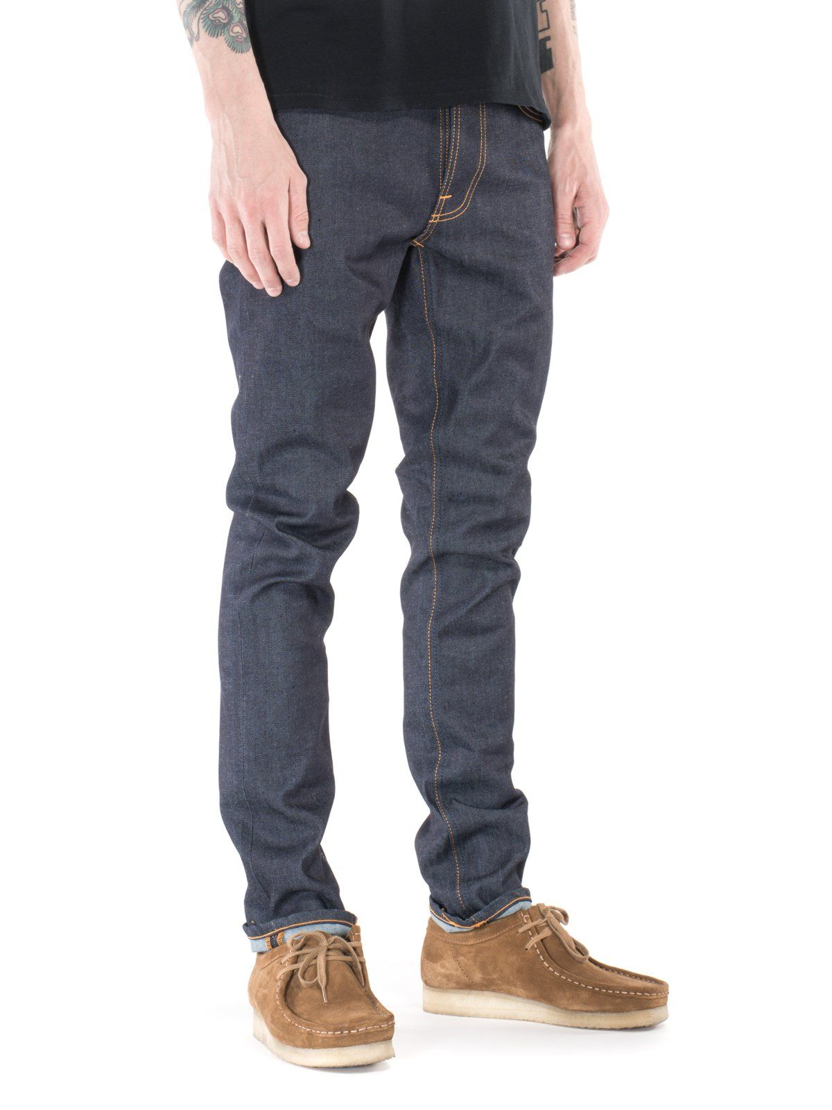 d102c2ba72d4df Wide range of jeans in dry, black and prewashed, rigid, selvage and stretch  denim. Buy denim jeans at the Nudie Jeans Online Shop.
