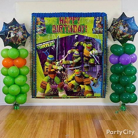 ninja turtle party decoration ideas Ninja Turtles party ideas