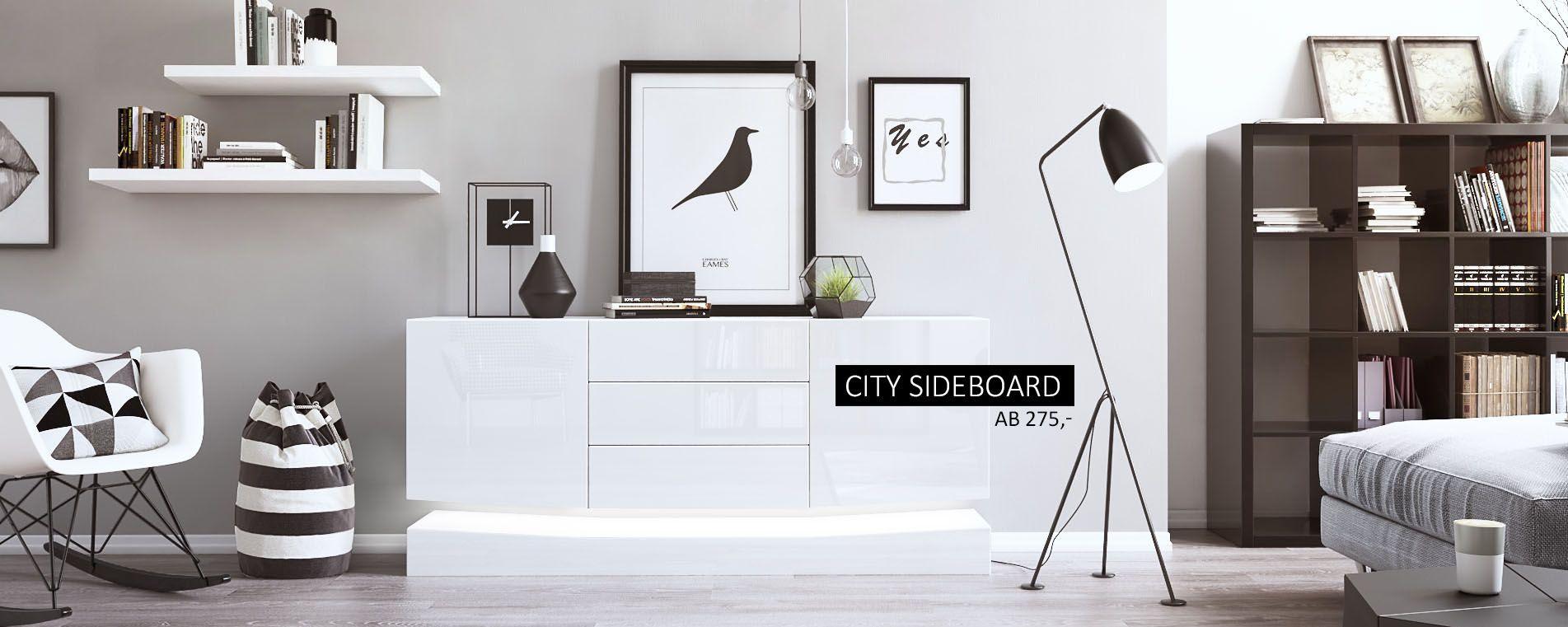Fabulous Sideboard City eindrucksvolles Licht und trendiges Design f r das moderne Ambiente zuhause vladon