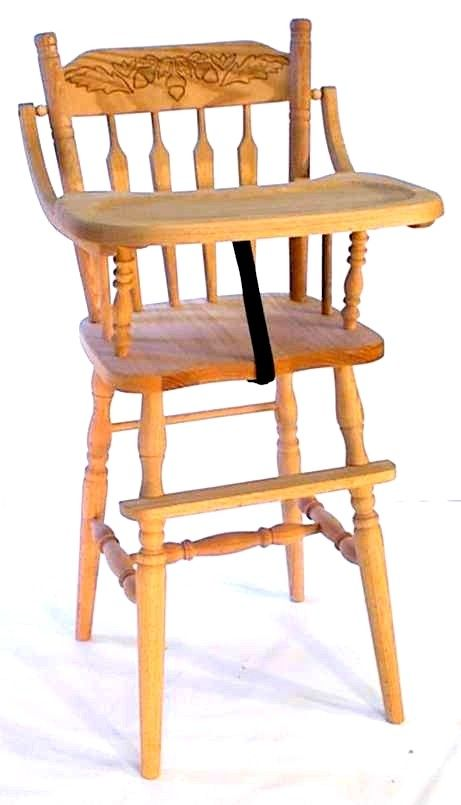 Amish Arrow Back Oak High Chair In 2019 High Chairs Wooden High
