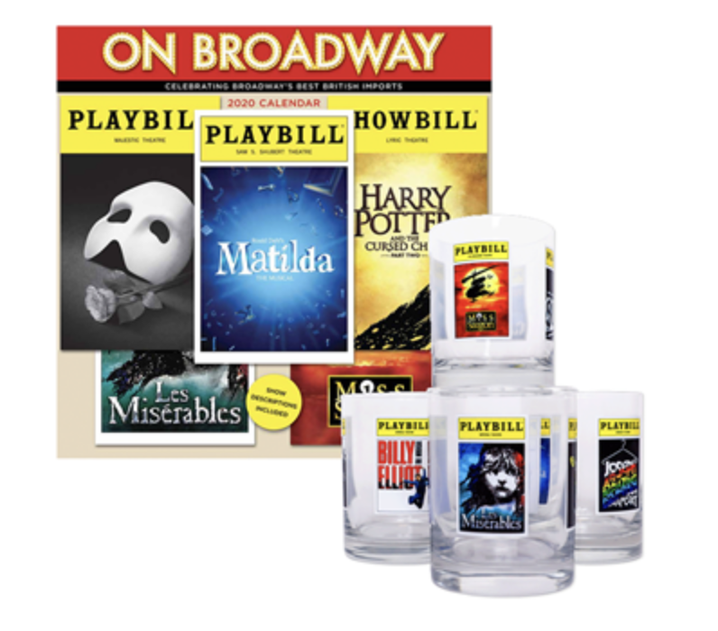 The 2020 On Broadway Calendar And Playbill Glassware Collection