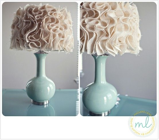 Diy lamp shade click image to find more diy crafts pinterest burlap ruffle lamp shade diy would be cute in a little girls room aloadofball Image collections