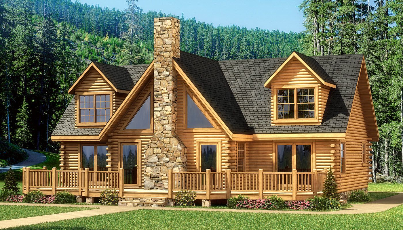 My favorite one grand lake log home plan southland for Log lodges floor plans