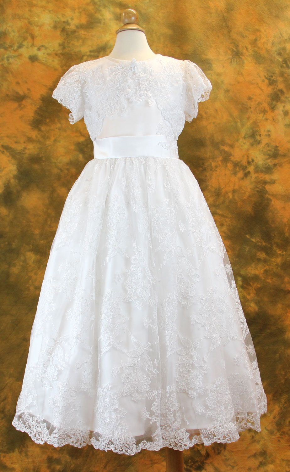 84e3ee94db Long Sleeve Lace Communion Dress - Juliette - Sophisticated Beaded Lace  with Fairytale Skirt with Long Sleeves - Girls Communion Dress…