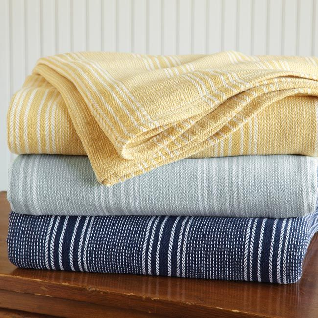 Lovely Just Found This Cotton Summer Blankets Lightweight   Yarn Dyed Striped  Cotton Blanket    Orvis On Orvis.com!