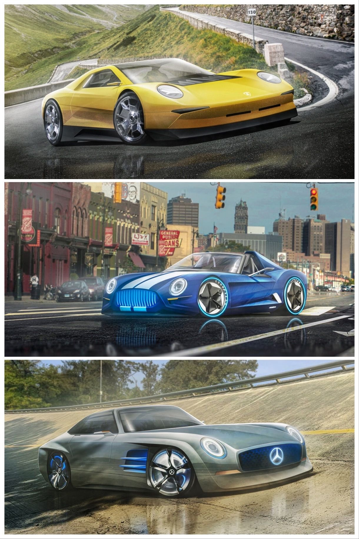 Iconic Classic Cars Rendered As Reborn Evs Em 2020 Carros