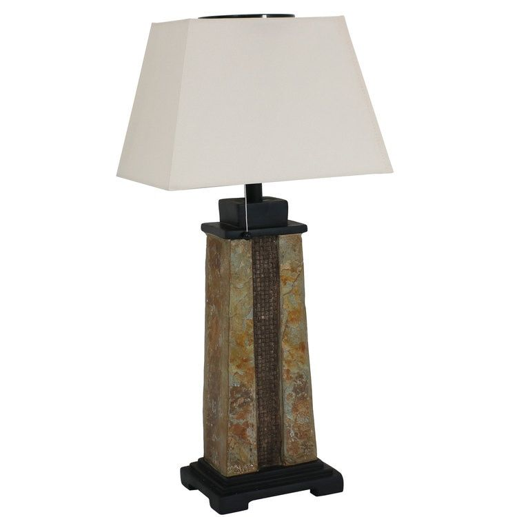 Nature-Inspired Log Polyresin Sunnydaze Indoor//Outdoor Weather Resistant Table Lamp