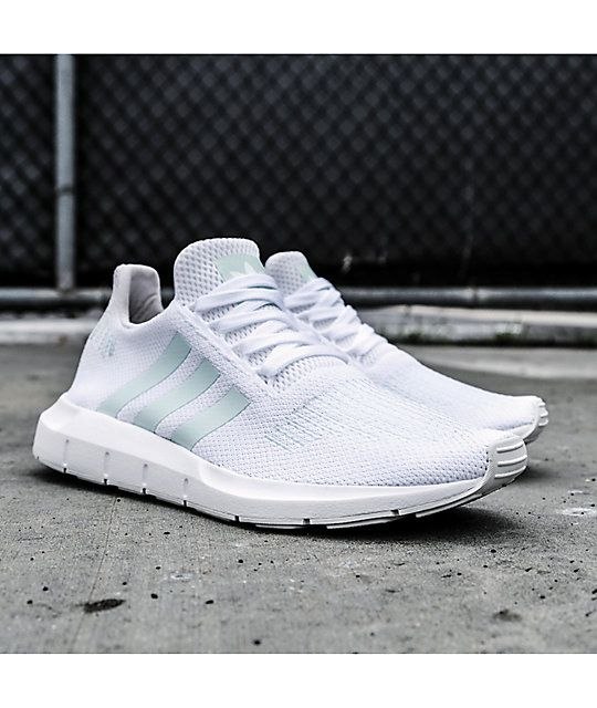 16e3cf64 adidas Swift Run White, Greone & Ice Mint Shoes | Deseos | Zapatos ...