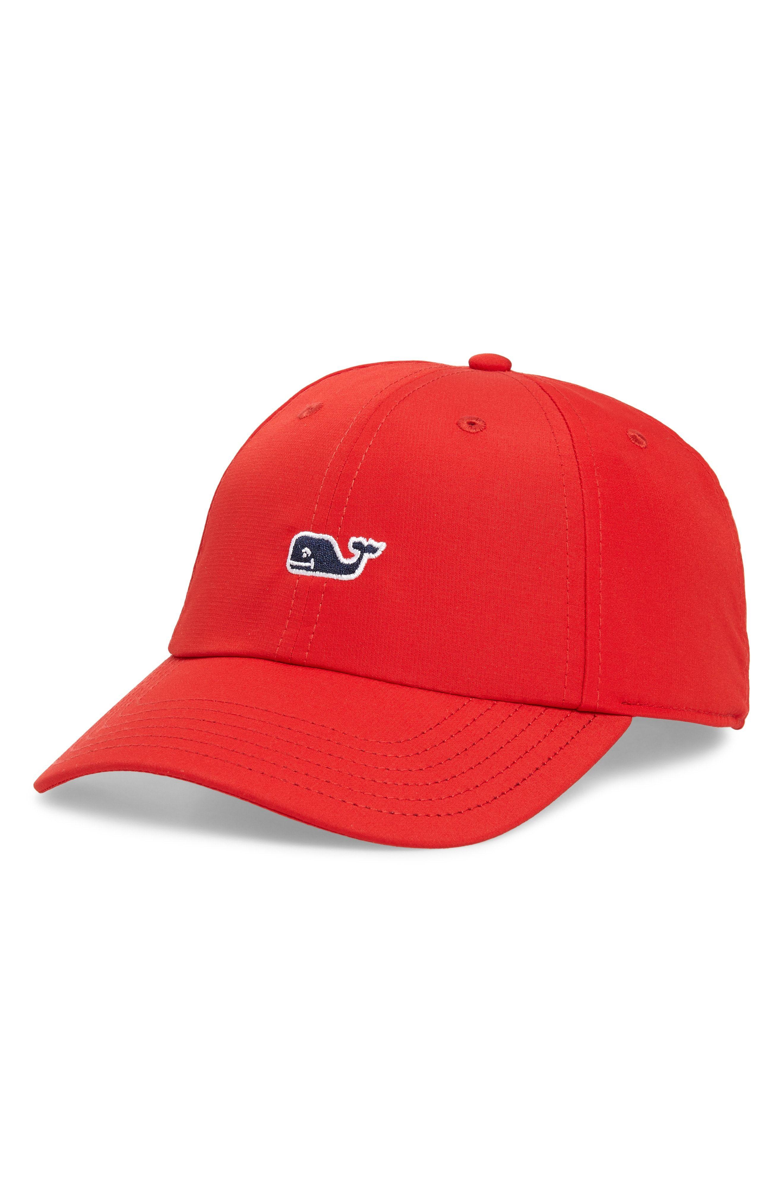 2994646bcac VINEYARD VINES WHALE LOGO BASEBALL CAP - RED. #vineyardvines ...