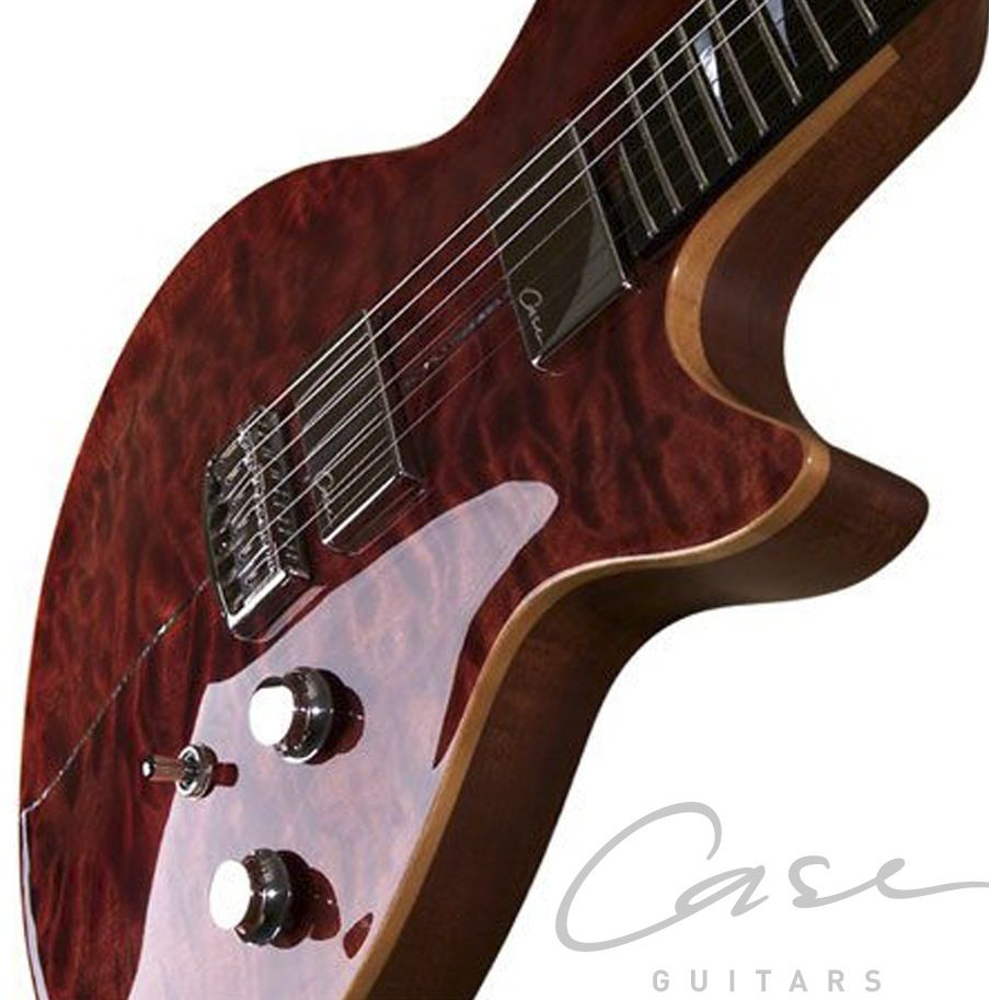Case Guitars J1 The Brazilian Mahogany Body Deep Carved Quilted Maple Top And Ebony Fretboard Gives This Guitar A Wond Guitar Asymmetrical Design Rock Style
