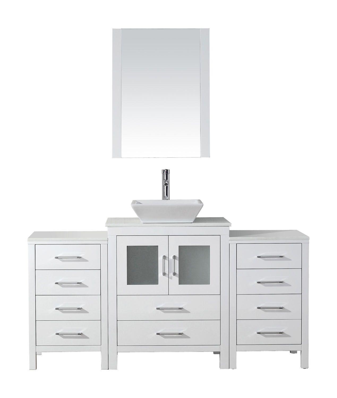 Virtu Usa Dior 64 Marble Vanity Tops Single Bathroom Vanity