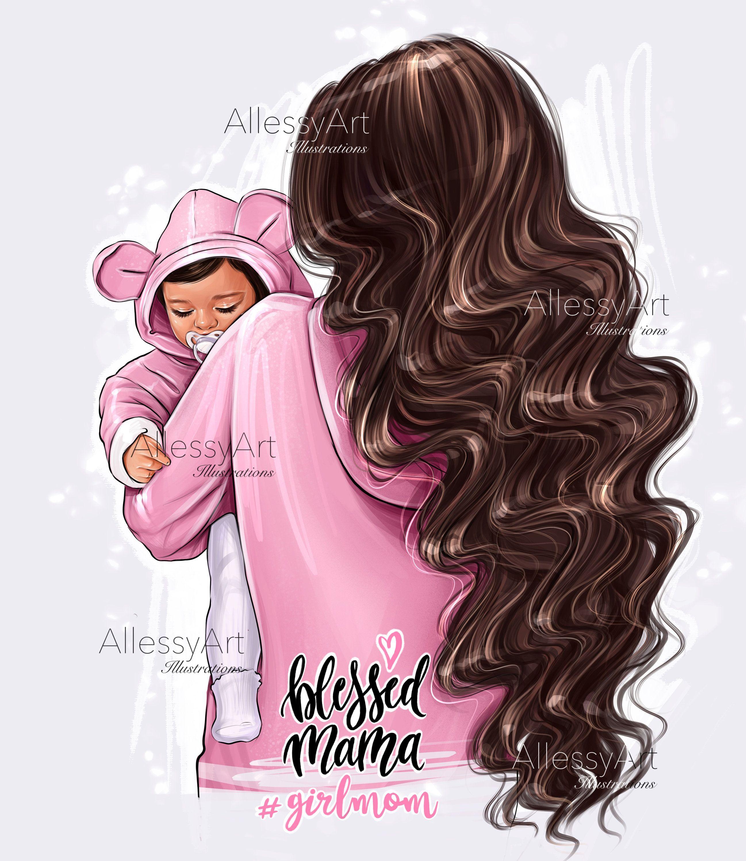 Photo of Instant download super mom digital fashion illustration superhero mother pdf/png love exclusive gift