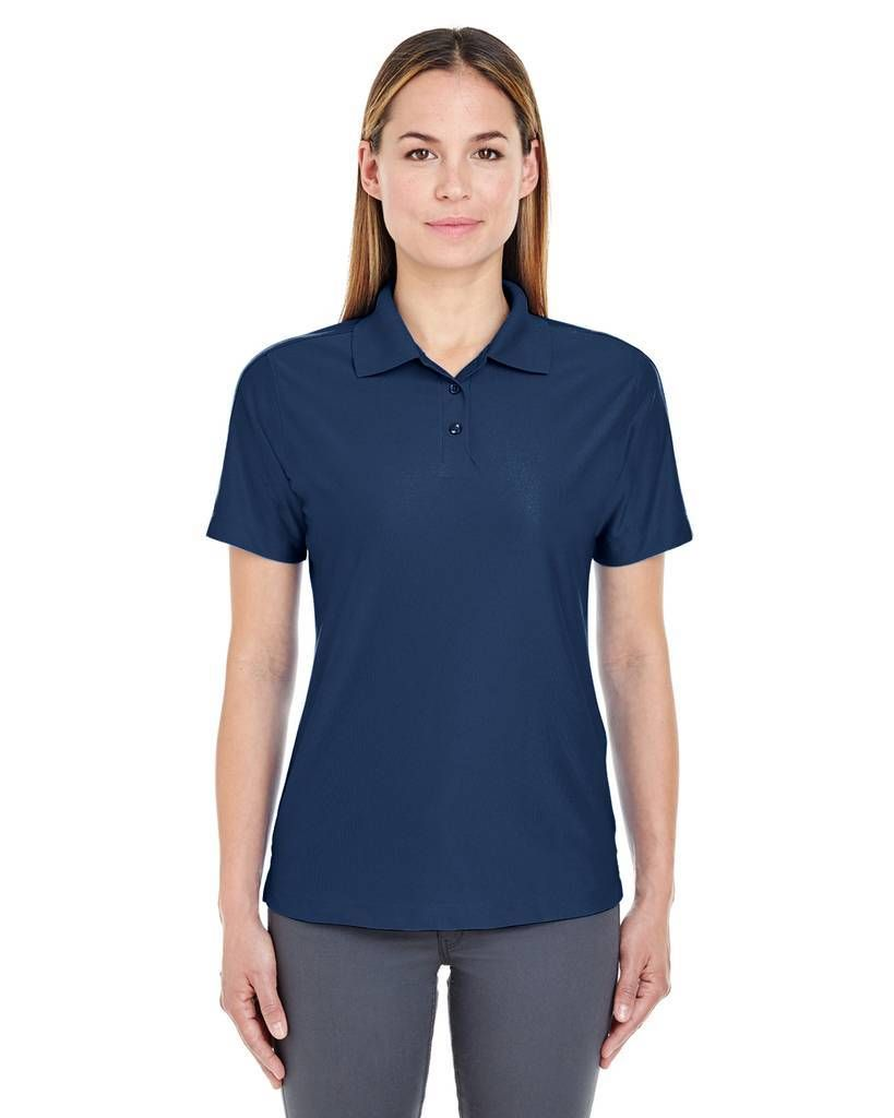 UltraClub Women's Cool & Dry Performance Polo Shirt in Navy Blue ...