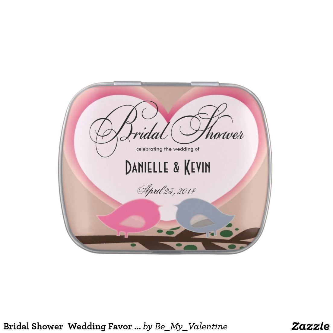 Bridal Shower Wedding Favor Candy Tin | Bridal Shower: Tin Favors ...
