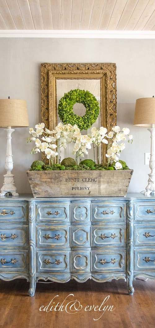 Photo of French Country Fridays No. 9 ~ Louis XV Commode, Gardens, Elegant Family Room an…