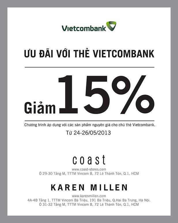 khuyến mãi Karen Millen giảm giá 15% cho chủ thẻ Vietcombank