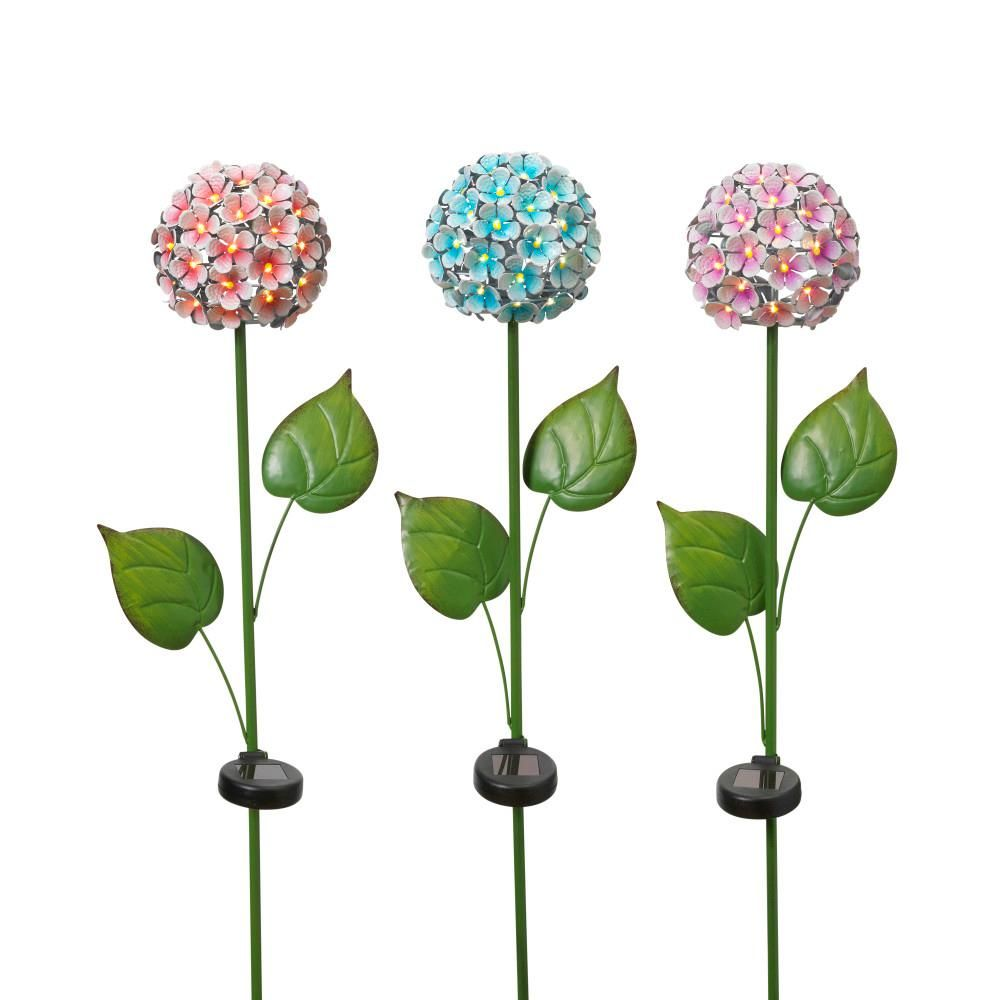 Gerson 43 in tall solarpowered colorful metal flower