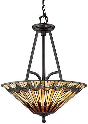Art Nouveau Stained Glass Pendant In Vintage Bronze Hanging Light Fixtures Pendant Light Art Nouveau Lighting