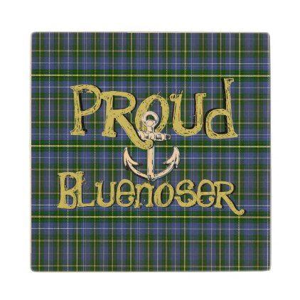 Proud Bluenoser Nova Scotia anchor wood coaster | Zazzle ...