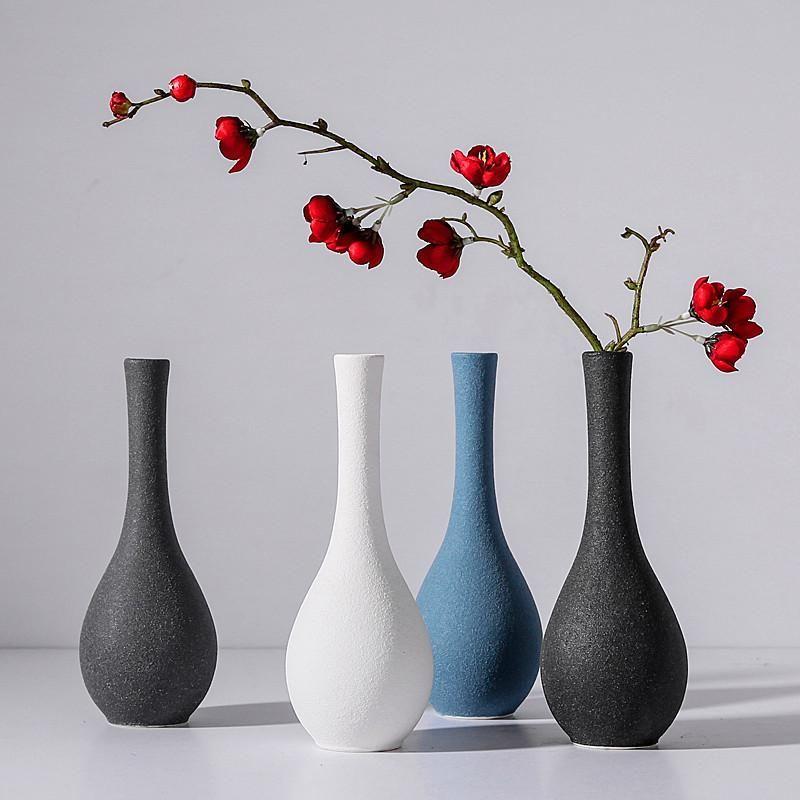 Originality Modern Grind Ceramic Vases Vases Decor Flower Vases