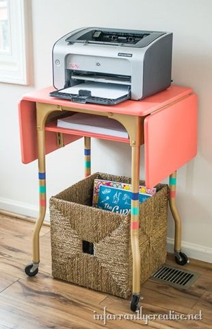 The Best DIY Projects U0026 DIY Ideas And Tutorials: Sewing, Paper Craft, DIY.  Best Diy Crafts Ideas For Your Home Printer Cart Typewriter Table  Read  More