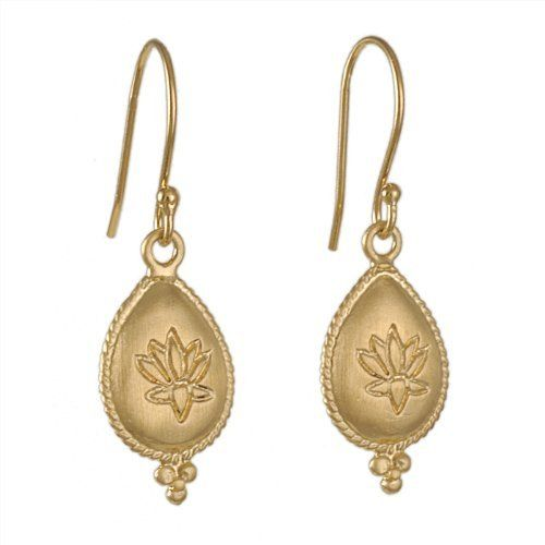 Satya Teardrop Lotus Earrings Jewelry 80 00
