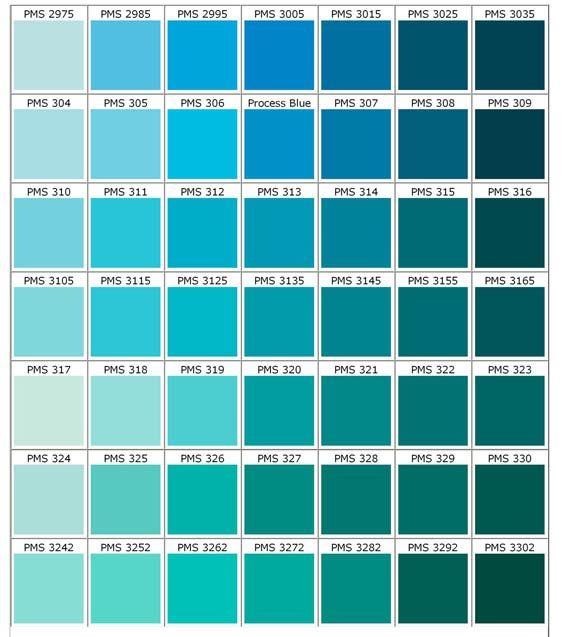 Azules verdes bebes pinterest cores paletas de - Carta de colores azules ...