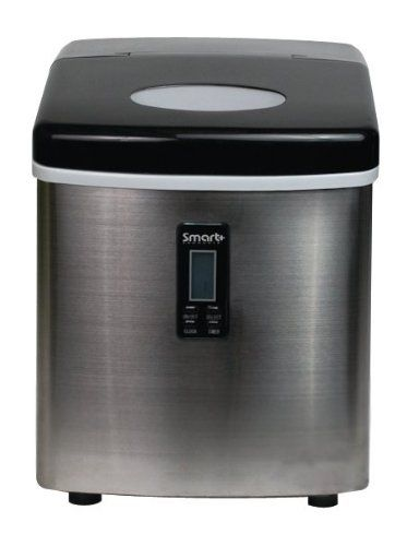 Smart Products Spp15aim Portable Stainless Steel Ice Maker From