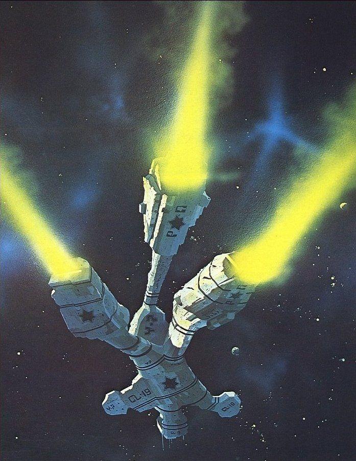 Chris Foss Voyage Of The Space Beagle Retro Sci Fi Futurism