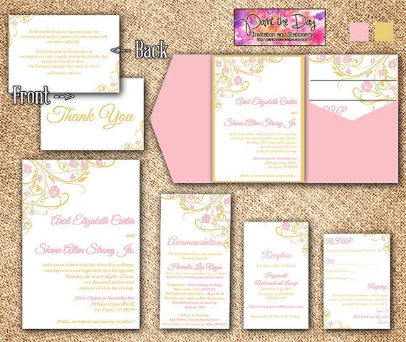 Blooming Vines  - microsoft word templates invitations