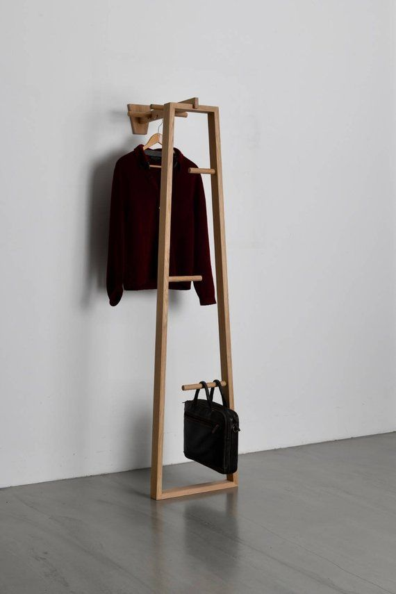 Garderobenständer - TB.13 - Coat Stand - Garderobe - Kleiderstander - Flur möbel - Holz - Design - Eiche - Oak