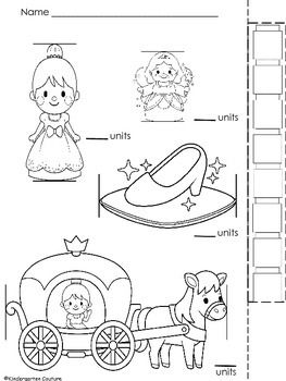 This is a one page Cinderella themed measurement page to