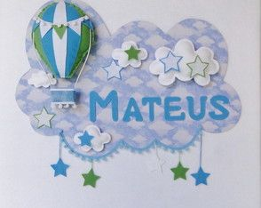 Painel PORTA MATERNIDADE Balão 10 Feltro