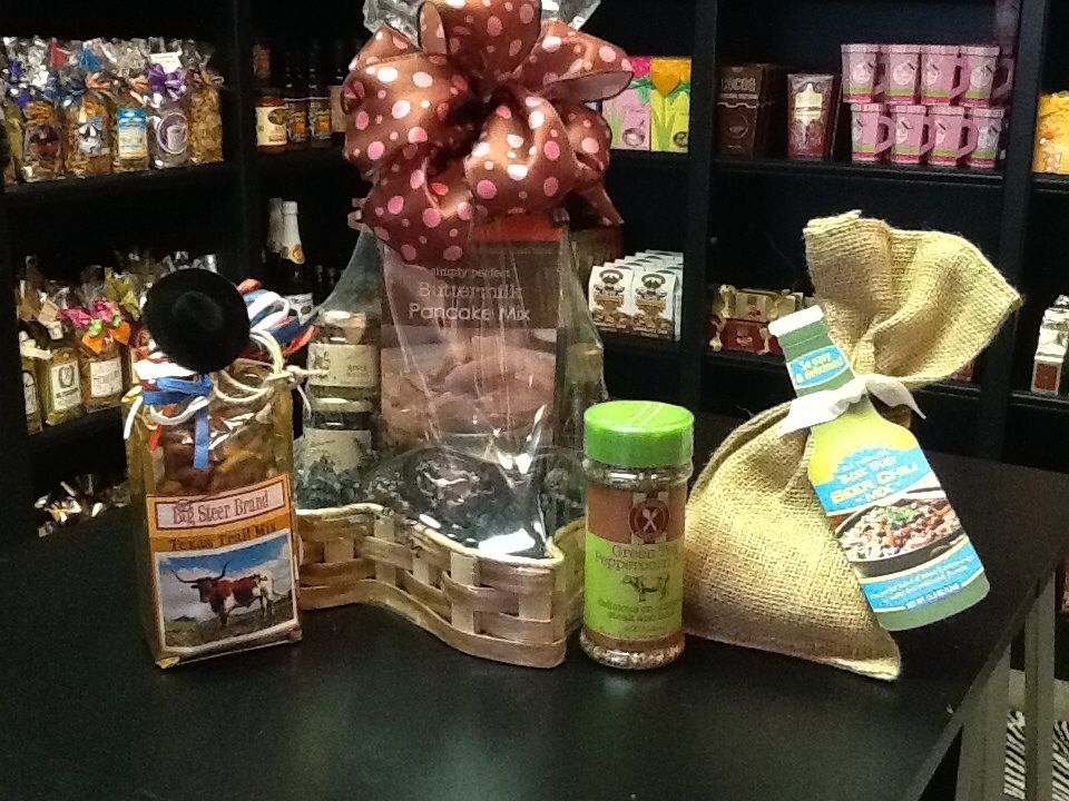 Know a Texas lover? Give them the perfect Texas shaped basket filled with home made jellies, perfect pancake mix and a rustic candle, or build your own basket! Order yours now! conradcreative.com or give us a call @ 817 473 1504