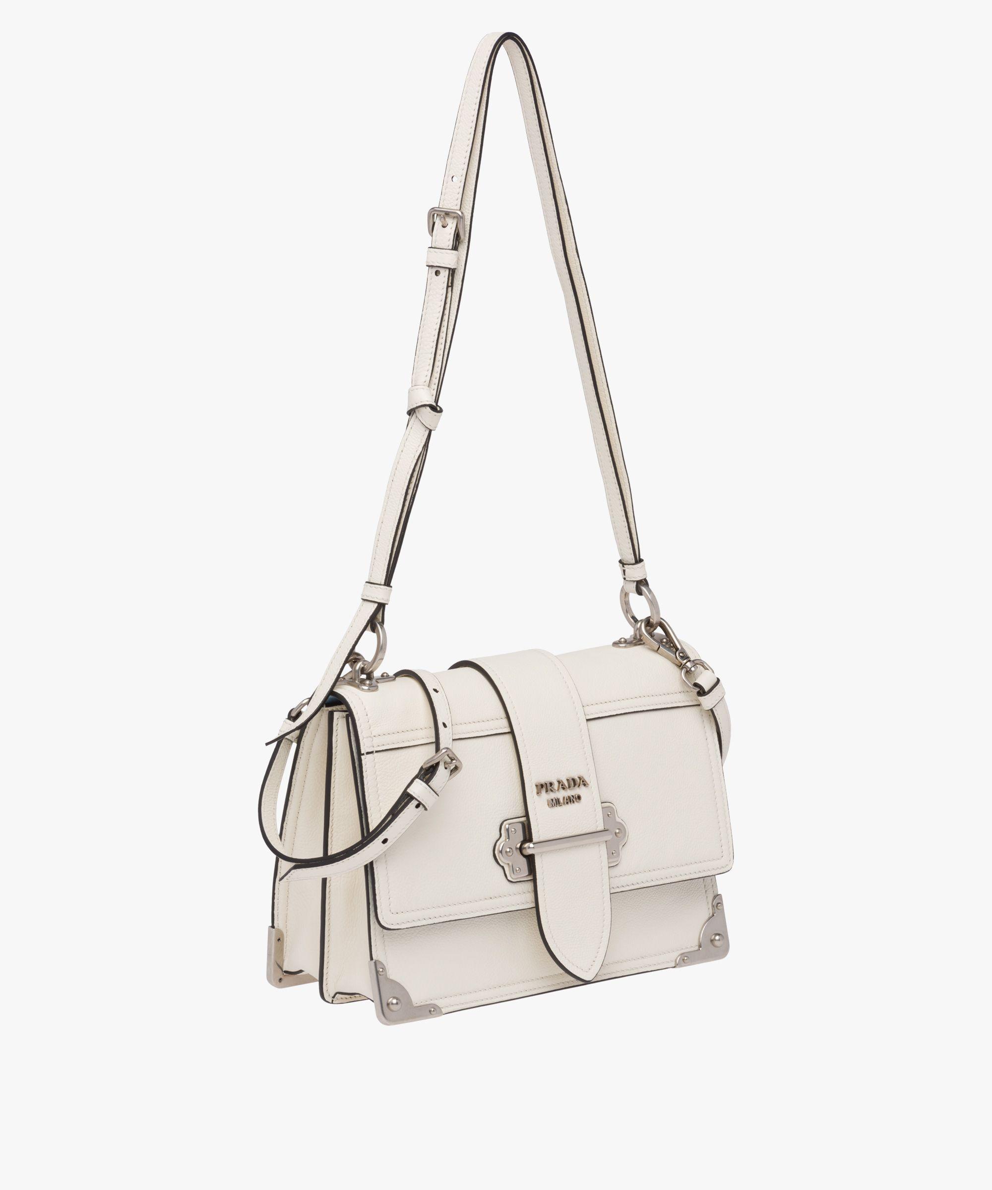 f4b10b6c43f3 Prada - Cahier white leather shoulder bag