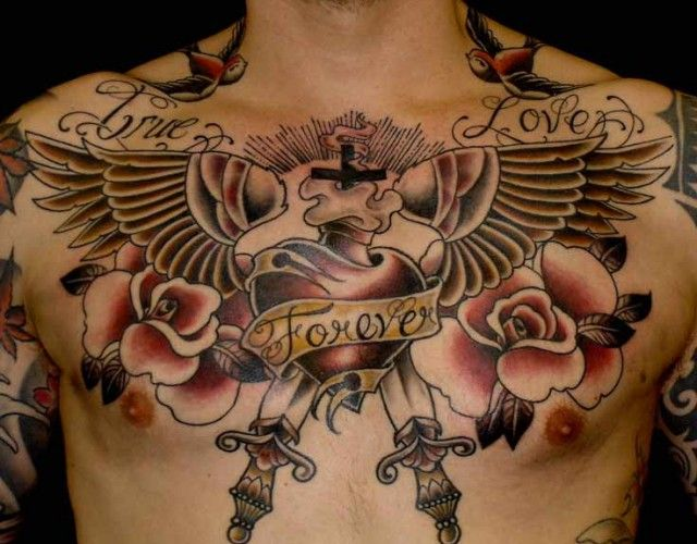 Old School Portfolio Categories Tattoos Styles And Meanings Tattoos For Guys Neck Tattoo Cool Chest Tattoos