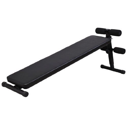 Soozier Deluxe Portable Ab Decline Sit Up Bench Black Exercise Benches Home Gym Exercise Bikes