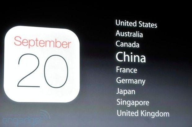 iphone 5s 5c 將於9 月20 日正式開賣 中國大陸名列首輪上市名單 japan the unit united kingdom