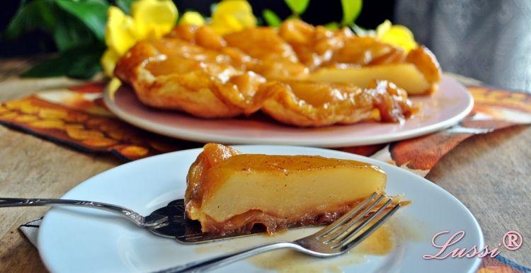 einfaches herbstliches Rezept für köstliches Tarte Tartin mit Birnen