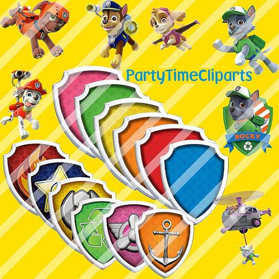 Paw Patrol Clipart Character PNG Digital Graphic Image Clip Art Scrapbooking Invitations INSTANT DOWNLOAD 300 dpi
